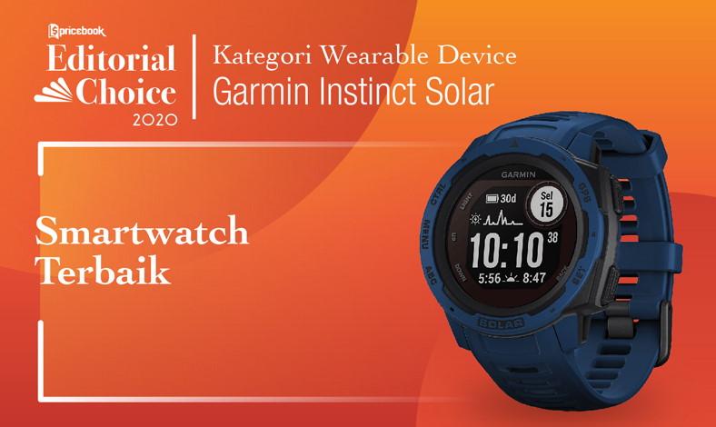 Garmin Instinct Solar sebagai Smartwatch Terbaik di Pricebook Editorial Choice Indonesia