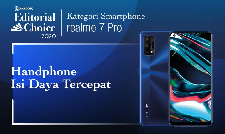 Realme 7 Pro menjadi Hp Fast Charging Tercepat oleh tim Pricebook