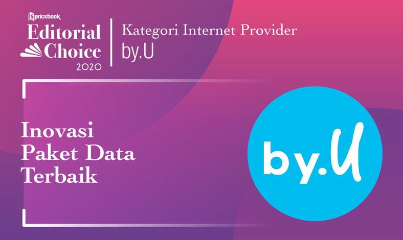 Internet Service Provider Terbaik di Pricebook Editorial Choice 2020 diraih oleh by.U